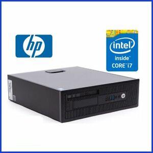 HP ELITEDESK 800 G1 INTEL CORE I7 4770 3.4GHZ 8GB RAM 256GB SSD WIN10