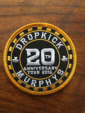 Dropkick Murphys patch 20th Anniversary tour Poker Patch 2016