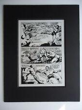 Aug. 1968 Captain Marvel # 4 Gene Colan Versus Sub-Mariner Pg 17 Production Art
