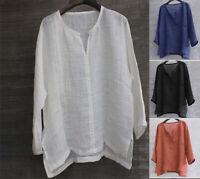 UK TRENDS Mens Linen Cotton Blouse Baggy Kaftan T-shirt Casual Tops Loose Shirts