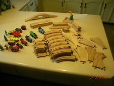 Lot Of Thomas Train brio & more Wooden train Set 100+ Pcs Tracks Engines bridges