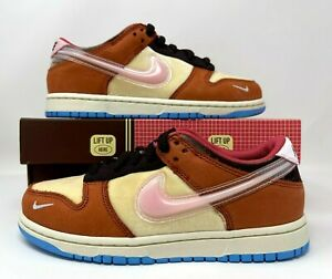 Social Status x Nike Dunk Low PS Free Lunch Chocolate Milk Size 2.5y DM3349-700