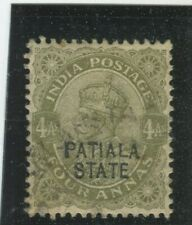 India - Convention States - Patiala Stamps Scott  #48 Used,VF (X6502N)