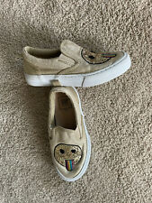 New listing Little Girl's Shoes Size 11 GAP KIDS Sneakers Tennis Shoes Smiley Face Gold