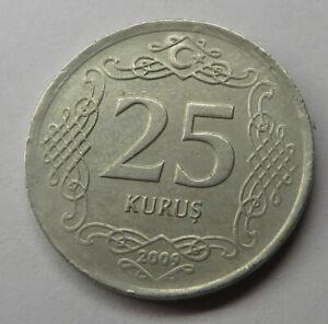Turkey 25 Kurus 2009 Copper-Nickel KM#1242