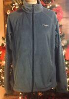 COLUMBIA Women's XL Benton Spring Full Zip Light Blue Fleece WL6439
