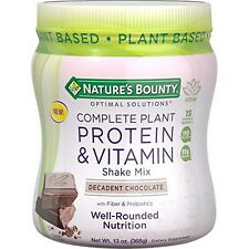 Nature's Bounty complete protein and vitamin shake mix vanilla, chocolate flavor
