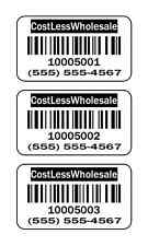 """1,000 Labels 1.5"""" x 1"""" Quality Paper UPC or Bar Code Barcode Labels Stickers"""