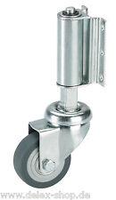 Leiterrolle Federrolle Lenkrolle 50 mm gefedert für Leitern Gummi grau Rolle Rad