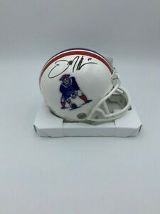 Julian Edelman Signed New England Patriots 1980's  Mini Helmet COA Hologram