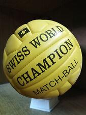 Swiss World Champion Match Ball | Classic Soccer | Antique Leather Ball | Wc1954