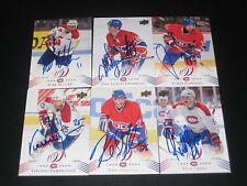 """JEAN-JACQUES J-J DAIGNEAULT autographed MONTREAL CANADIENS """"centennial"""" card #89"""