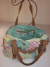 FOSSIL ORIGINAL BRAND PATCHWORK CANVAS LEATHER LARGE DUFFLE SHOULDER BAG RARE