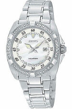 Seiko Stainless Steel Band Date Indicator Wristwatches