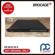 Original Brocade ICX 6610-24-E 24-Ports SFP Managed Switch