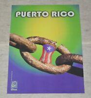 Political Cuban POSTER.OSPAAAL.Solidarity with Puerto Rico Libre.2007 ORIGINAL