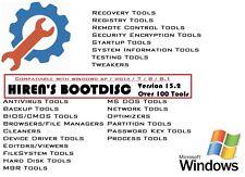 HIREN'S BOOT DISC FIX REPAIR RECOVERY CD DVD FOR WIN XP VISTA 7 8 8.1 10 PC