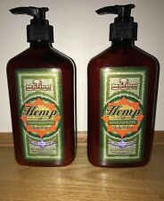 Malibu Tan LOT Of 2 Hemp Moisturizer Body Lotion  18 fl. oz. Each NEW Free Ship