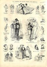 Homme d'Affaire de Bourse à Paris par Bertall Peintre GRAVURE ANTIQUE PRINT 1873