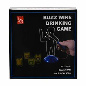ZapMan Drinking Buzz Wire Game NeW. 4 glasses & The Buzz Man. Express to You!