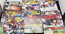Vintage 90's Lot Of 9 Sports Illustrated San Fran 49ers Jerry Rice Joe Montana