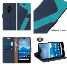 Wallet Case For Nokia 7.2 Magnetic Flip Cover Kickstand Folio Card Slots PU Blue