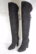 APERLAI  'JOSEPHINE' HIGH HEEL BLACK SUEDE OVER THE KNEE BOOTS EU 40 US 10