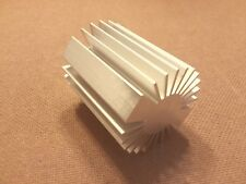 2 inch diameter Heat Sink Aluminum. ROUND. (2.0 x 3.5). Low Thermal Resistance.