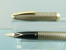 Vintage Sheaffer Imperial Sovereign Diamond Cut Gold Fountain Pen,Box *Nr MINT*