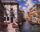 Best Gift Home Wall Decor Venice Italy Scenery Oil Painting Printed on Canvas