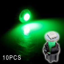 10Pcs PC74 T5 LED Twist Socket Instrument Panel Cluster Dash Light Bulb Green y