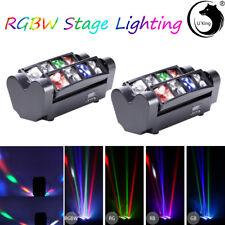 8 LEDs 80W U`King 2PCS RGBW Mini Spider Stage Light Laser DMX Disco Bar DJ Show