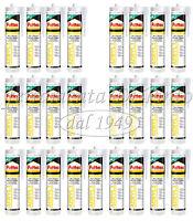 25 Silicona Sellador PATTEX O SARATOGA Cartucho ML 300 Blanco Acrílico