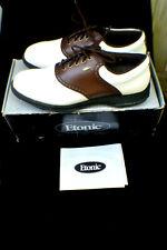 Etonic Golf Shoes Two Tone Brown White Size 10.5 Lites w/Box
