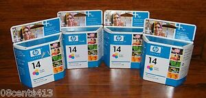 4 HP 14 (C5010D) (400 Page Yield) Tri-Color Ink Cartridge Sealed In Box *EXPIRED