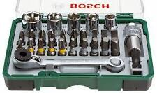"Bosch 27 Pc 1/4"" Hex Sockets + Mini Ratchet & Screwdriver Bit Set 2607017160"