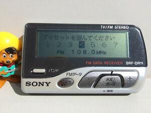 Sony SRF-DR11 Radio Receiver FM/AM/TV Area Bank Backlight FM Data Range 76-108