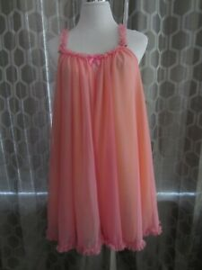 Size M~ Betsey Johnson ~Pink & Peach Colored Swing Chemise NWT $75