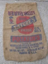 Vintage Red River Valley Nature's Pride Potatoes Grand Forks N. D. burlap sack