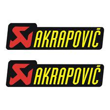 Stickers plastifiés AKRAPOVIC - mod.2 - 17cm x 5cm