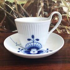 ROYAL COPENHAGEN Mega Bleu Tasse à café avec soucoupe, NEUF