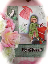Vintage 1940s Doll Clothes Knitting Pattern. 5 Piece Outdoor Set. FREE UK P&P