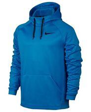 Mens Nike Therma Training Hoodie Sweatshirt Size M L Light Photo Blue 826671 449