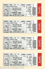 DANSBY SWANSON Atlanta Braves MLB Debut TICKET First Game & Hit AUGUST 17 2016