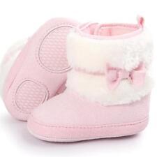 Newborn Kids Baby Girls Snow Shoes Winter Soft Sole Prewalker Crib Plush Boots