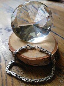 Königskette, 925 Sterling Silber, Silberarmband, Herren, Massiv, Armband, 🤴👑