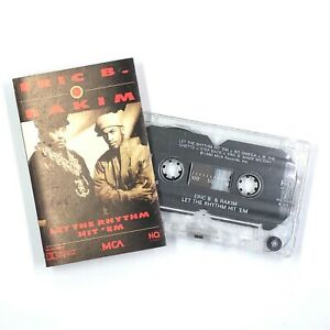 ERIC B & RAKIM Let The Rhythm Hit 'Em Cassette Tape 1990 Rap Hip-Hop Rare