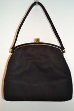 Twifaille By Rosenfeld Black satin Vintage clasp Purse/evening bag