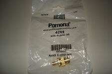 Pomona 4289 Adapter, SMA Female To BNC Male New in Bag