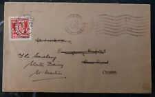 1942 Occupied Guernsey Channel Island England Cover To St Martin